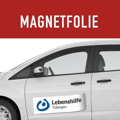 Magnetfolie mit Beschriftung