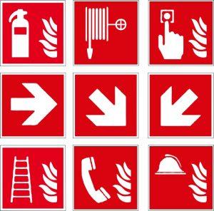 Brandschutz Aufkleber, Aufkleber drucken lassen