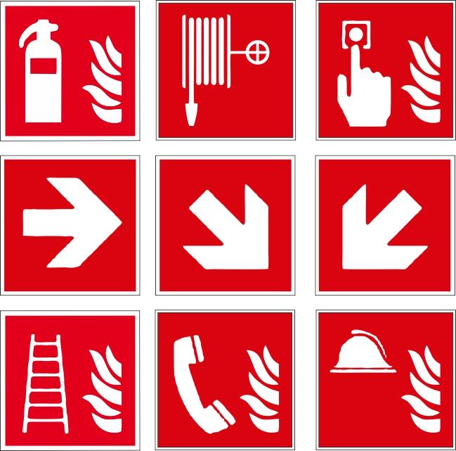 Aufkleber Set Brandschutz