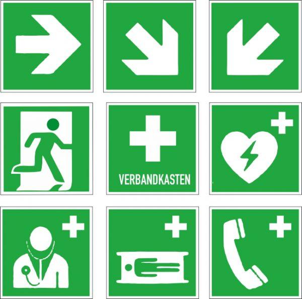 Rettungssymbole, Aufkleber drucken lassen