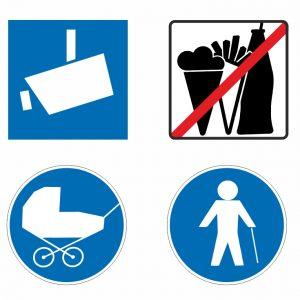 Symbole und Warnzeichen