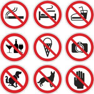Verbotssymbole, Aufkleber drucken lassen