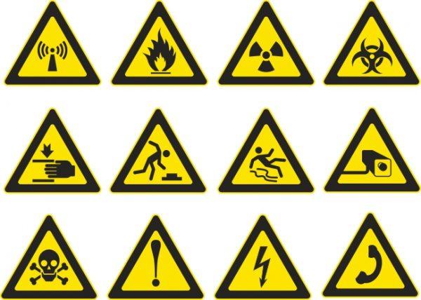 Aufkleber Mülltrennung, Warnsymbole, Aufkleber drucken lassen