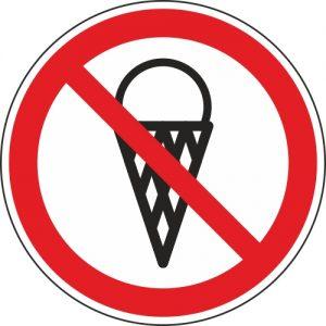 Aufkleber-Eis-essen-verboten