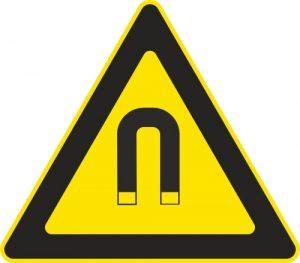 Aufkleber-Gefahrsymbol-Magnetfeld