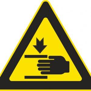 Aufkleber-Gefahrsymbol-Quetschgefahr
