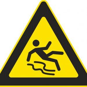 Aufkleber-Gefahrsymbol-Rutschgefahr