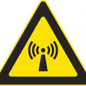 Aufkleber-Gefahrsymbol-Strahlung