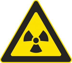 Aufkleber-Gefahrsymbol-radioaktiv
