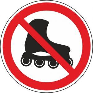 Aufkleber-Inline-skating-verboten