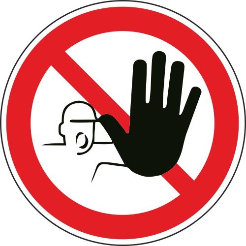 Aufkleber-Zutritt-fuer-unbefugte-verboten