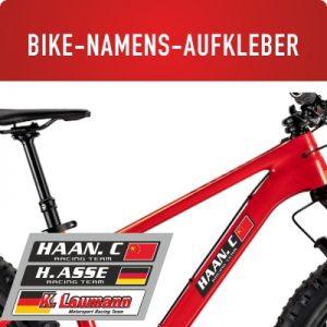 Bike Namensaufkleber