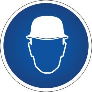 Gebotssymbol-Schutzhelm-tragen