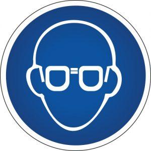 Gebotssymbol-schutzbrille
